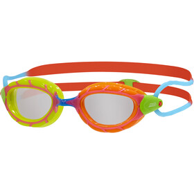 Zoggs Predator Lunettes de protection Enfant, green orange/red blue/clear